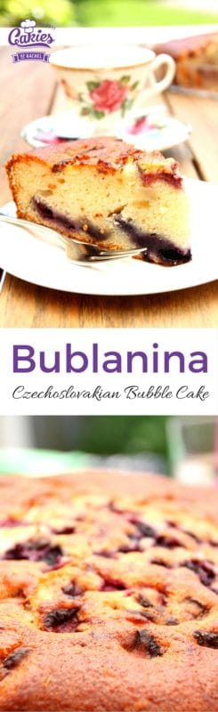 Bublanina – Czechoslovakian Bubble Cake | An easy, one bowl recipe for Bublanina, a Czechoslovakian Bubble Cake. This cake is moist, light and airy and a breeze to make. A great cake all year round. | http://www.cakieshq.com