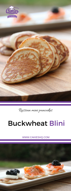 Buckwheat blini. The perfect bite sized snack for parties. They make a delicious appetizer as well. Make the perfect buckwheat blinis yourself today.