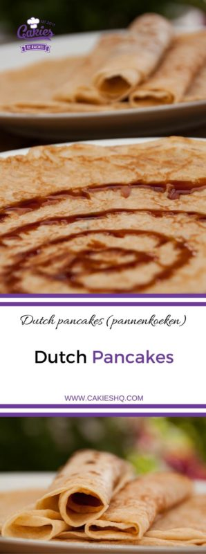 Dutch pancakes (pannenkoeken) are kind of a cross between an American pancake and a French crêpe. In the Netherlands pancakes are often eaten for dinner. #dutchfood #dutchrecipe