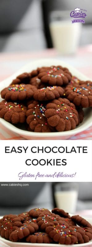 Easy Gluten free Chocolate Cookies Recipe - Brownzena
