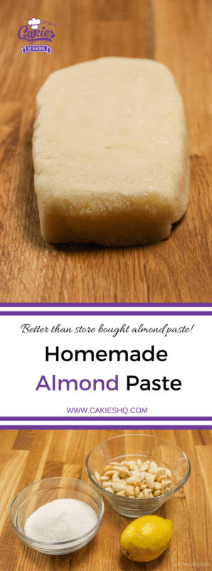 This homemade almond paste recipe is super easy and so much better than the stuff you can buy in the store!