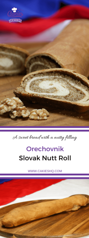 Orechovnik is a Slovak nut roll. A delicious sweet bread with a nutty filling. A favorite in many Eastern European countries. #nutroll #recipe #sweetbread