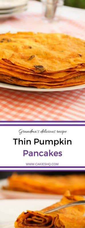 Thin Pumpkin Pancakes Recipe