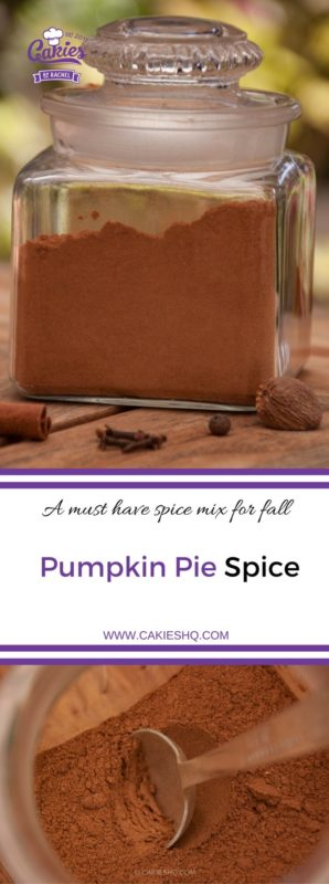 Pumpkin pie spice is an American spice mix, a fragrant blend of ground cinnamon, nutmeg, ginger, cloves, and allspice, It's really easy to make it yourself. #pumpkinpiespice #fallrecipe