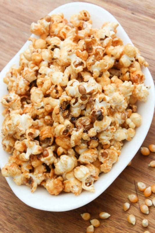 This Sweet Honey Popcorn is easy to make and easy to keep eating! Honey popcorn is tasty snack while watching movies.