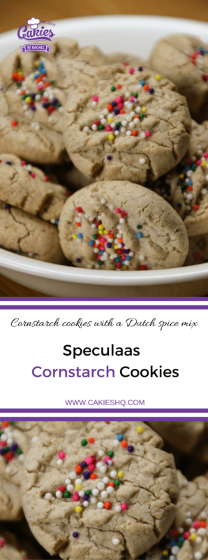 Speculaas cornstarch cookies are cornstarch cookies infused with a typical Dutch spice mix, Speculaas. Pumpkin Pie Spice can be used as well. Gluten Free.