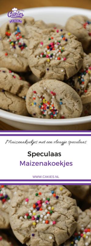 Speculaas maizenakoekjes zijn maizenakoekjes met een vleugje speculaas. Dit speculaas maizenakoekjes recept is glutenvrij.