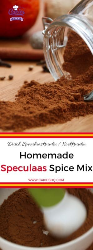 Speculaas Spice Mix (Dutch Speculaaskruiden) | Speculaas Spice Mix is often used in Dutch cuisine. Speculaas is also known as Spekulatius, Speculoos and Spekolaus. An aromatic blend of spices. | https://www.cakieshq.com