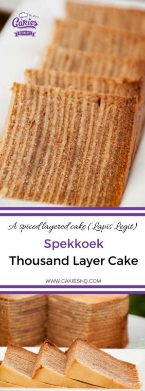 Spekkoek is a Dutch-Indonesian layered cake. Also known as spekkuk and kue lapis legit or 'Thousand Layer Cake' due to the many layers the cake is made of. | Spekkoek Recipe | #spekkoek #recipe