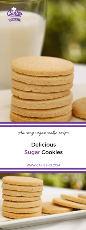 Sugar cookies are really easy to make. Make your own sugar cookies with this recipe. You can decorate these cookies or eat them without any icing.