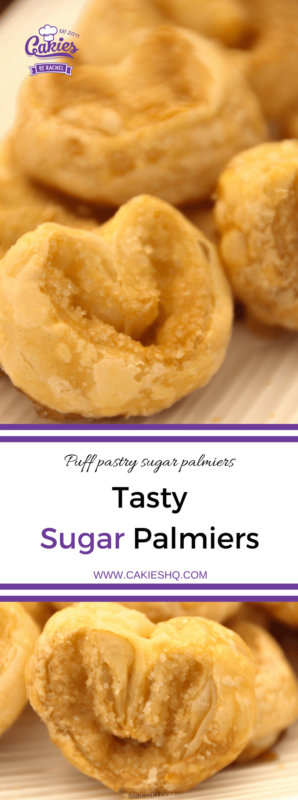 Sugar Palmiers are a crispy, sweet French pastry. You only need 3 ingredients for these tasty, super easy to make cookies. An easy sugar palmier recipe.