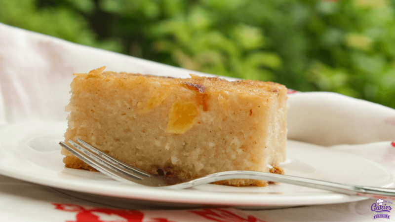 Surinamese Bojo Cake with Pineapple | Surinamese Bojo Cake with Pineapple is a cassava-coconut cake with pineapple chunks. This traditional Surinamese cake is often served at parties. | http://www.cakieshq.com | Step 07