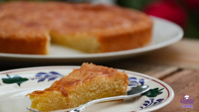 Dutch Butter Cake (Boterkoek) Recipe | Dutch butter cake (boterkoek) is a traditional moist, flat cake with crispy edges. Butter cake (boterkoek) is a delicious Dutch treat to indulge in. | https://www.cakieshq.com | Step 14