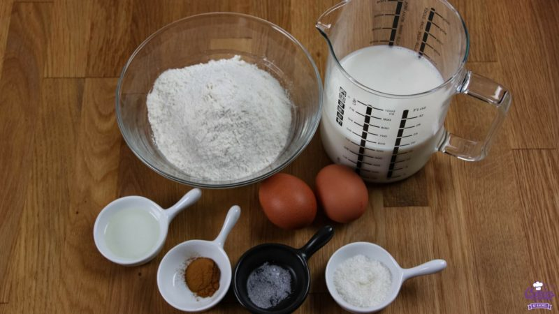 Dutch Pancake ingredients view from above