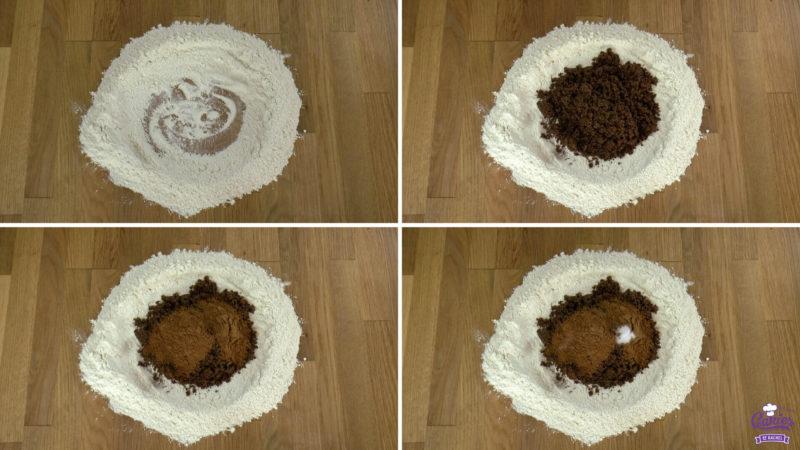 Dutch speculaasbrokken process photo's of making the dough