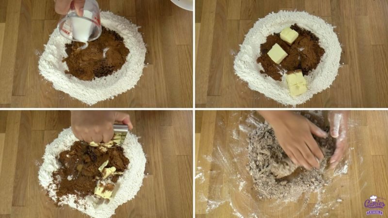 Dutch speculaasbrokken process photo's of making the dough 2