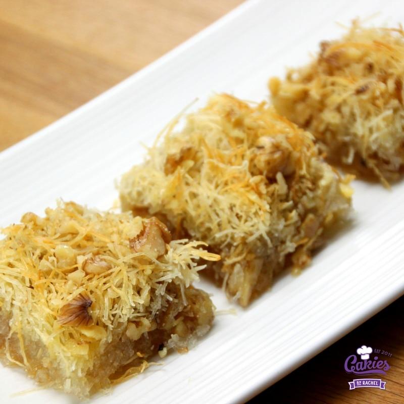 Kadaif: A Sweet Crispy Dessert (Kadayif) Recipe | Cakies