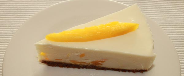 mango and ginger quark (or yoghurt) pie