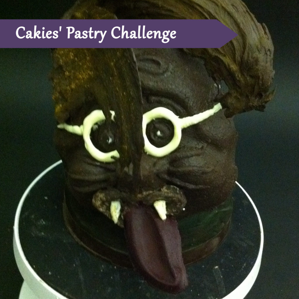 "Pastry Course Day Eight: Chocolate Mask ""Funky Monster"""