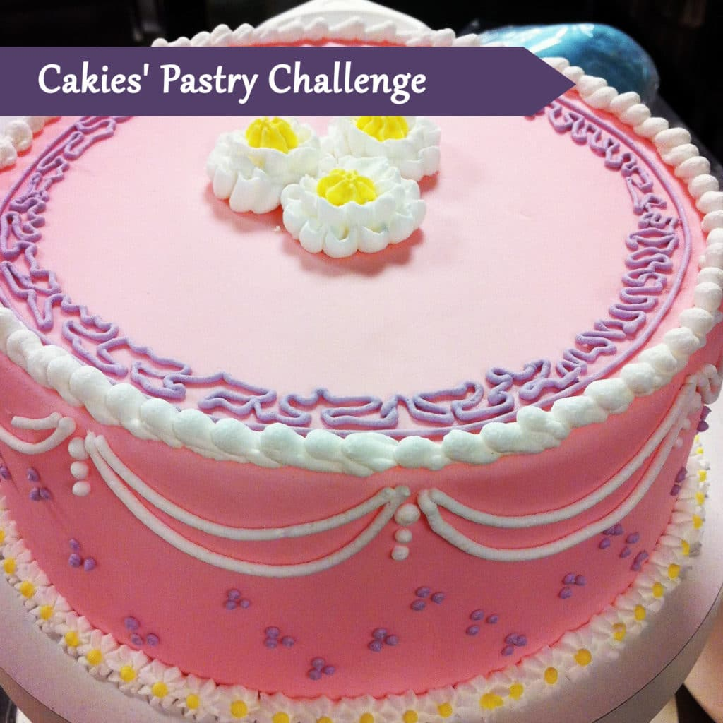 Pastry Course Day Thirteen: Covering Cake, Piping Flowers and Decorating a Dummy Cake