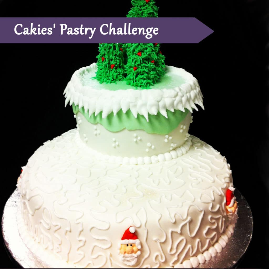 Pastry Course Day Fifteen: Decorating a Two Tiered Cake