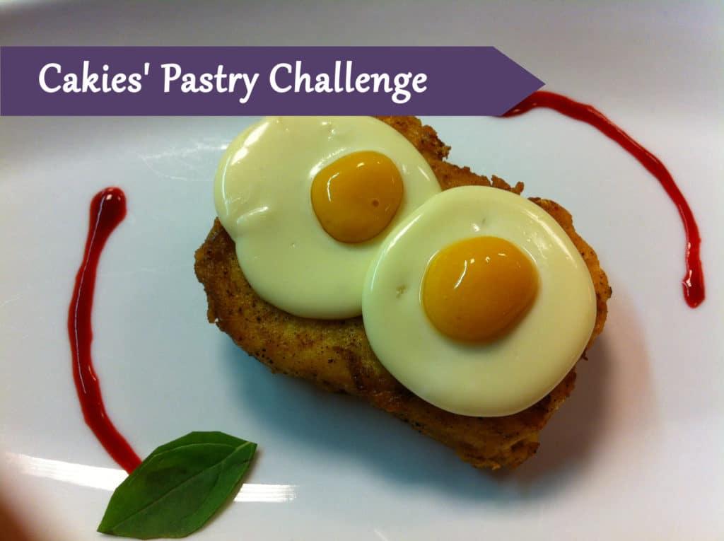 Pastry Course Day 37: Mango and panna cotta egg, Apple Spaghetti, Melon Caviar