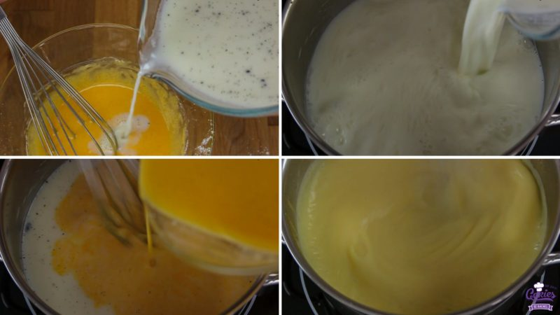 Basic Pastry Cream Recipe | Pastry Cream is a delicious, custard or pudding perfect as a filling for cream puffs or cakes. It's really easy to make pastry cream yourself at home. | https://www.cakieshq.com | Step 05