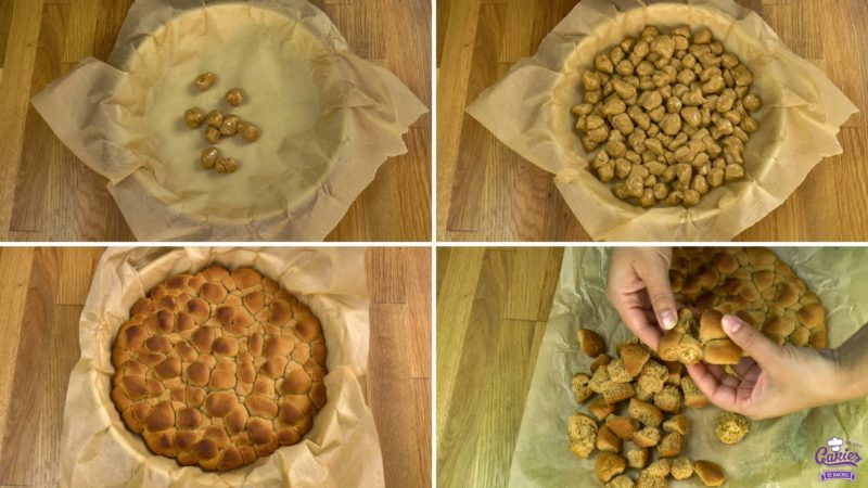 process of traditional dutch pepernoten (peppernuts) to create their distinctive look